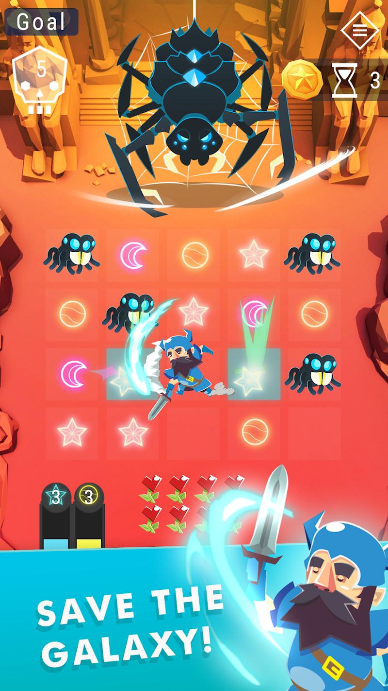 Starbeard - Intergalactic Roguelike puzzle game Screenshot 1