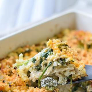 Veggie Loaded Rotisserie Chicken Casserole.