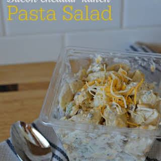 Bacon Cheddar Ranch Pasta Salad.