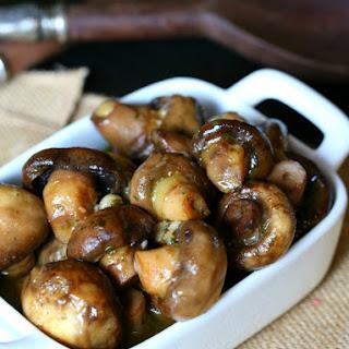 Slow Cooker Garlic Ranch Mushrooms