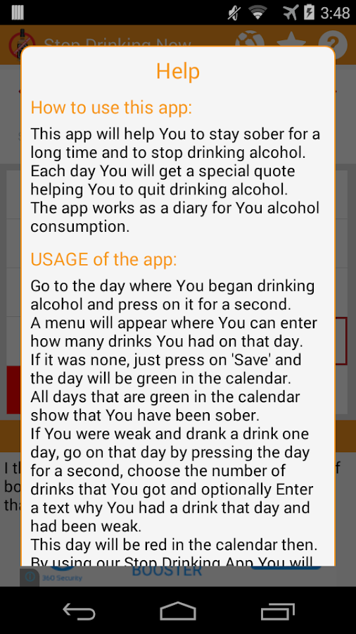 Stop Drinking Alcohol now- screenshot