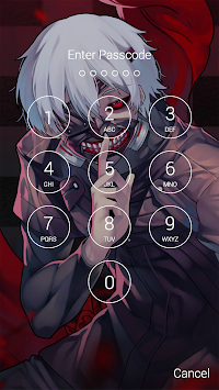 Fan Anime Lock Screen Wallpaper Of Ken Kaneki Poster