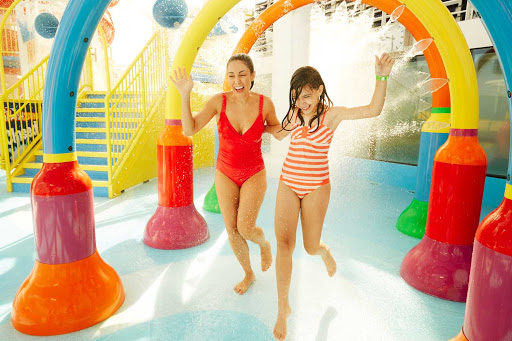 Have some fun with family members at WaterWorks during your next Carnival cruise.