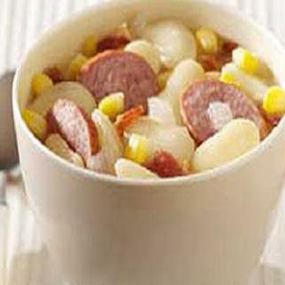 Lima Bean-Sausage Soup