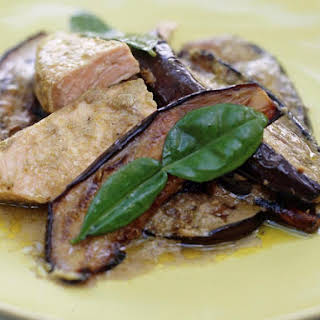 Salmon and Eggplant Curry.