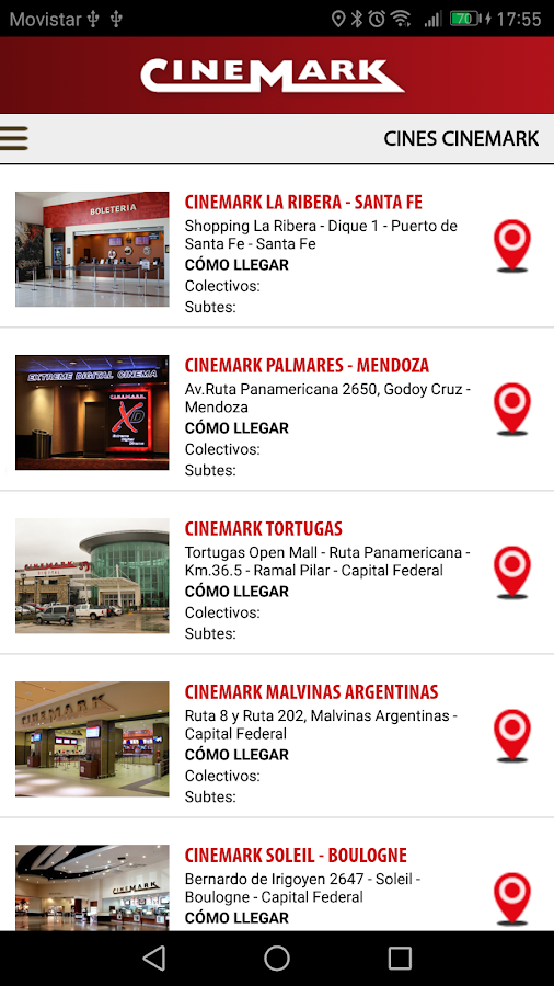 CINEMARK ARGENTINA- screenshot