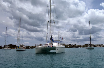 Photo: Anchored among the other yachts in St. George's Harbour.