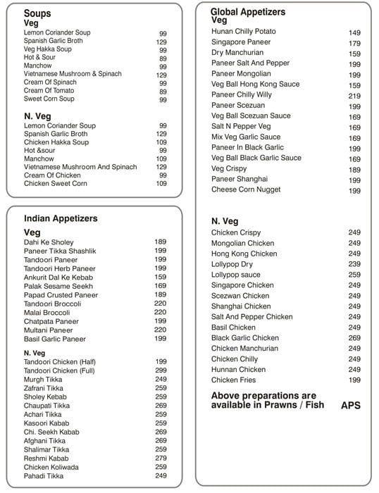 The Post Office menu 1