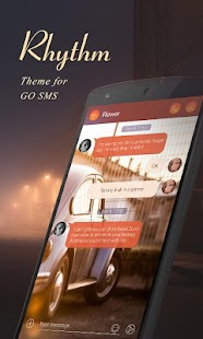 (FREE)GO SMS RHYRHM THEME Screenshot