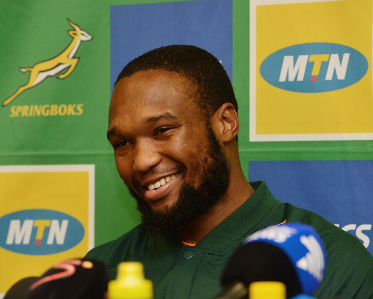 Lukhanyo Am of South Africa during The Rugby Championship squad announcement at Garden Court Umhlanga, Durban on August 16, 2018.
