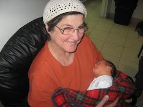 Photo: Risa holding Noga 3 days old