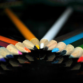 Colored Pencils by Leony Sibug - Artistic Objects Other Objects ( colorful pens, grease pencils, crayons, colored pencils, pencils, pens )