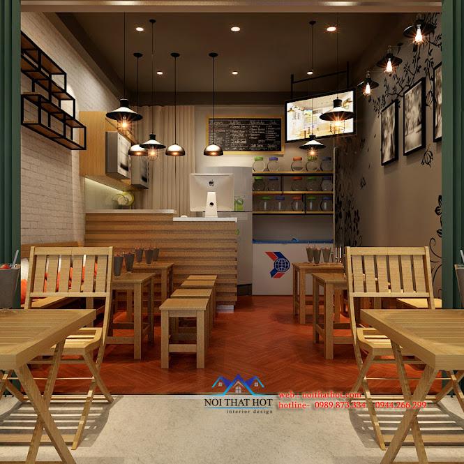 thiết kế quán ăn nhanh và thiết kế quán trà sữa