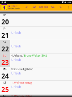 SUPER-Kalender- screenshot thumbnail