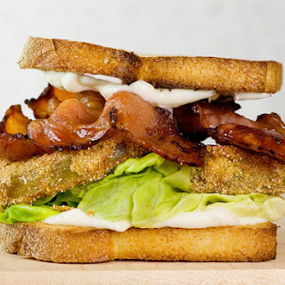 Bacon, Lettuce and Fried Green Tomato Sandwiches
