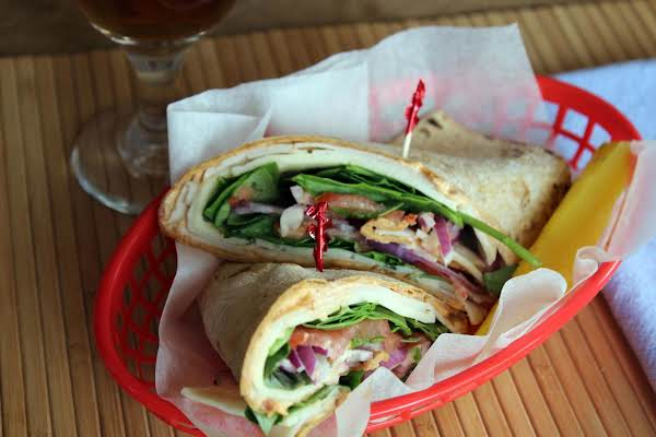 Turkey Veggie Wrap W/ Sun-dried Tomato Pesto Mayo Recipe
