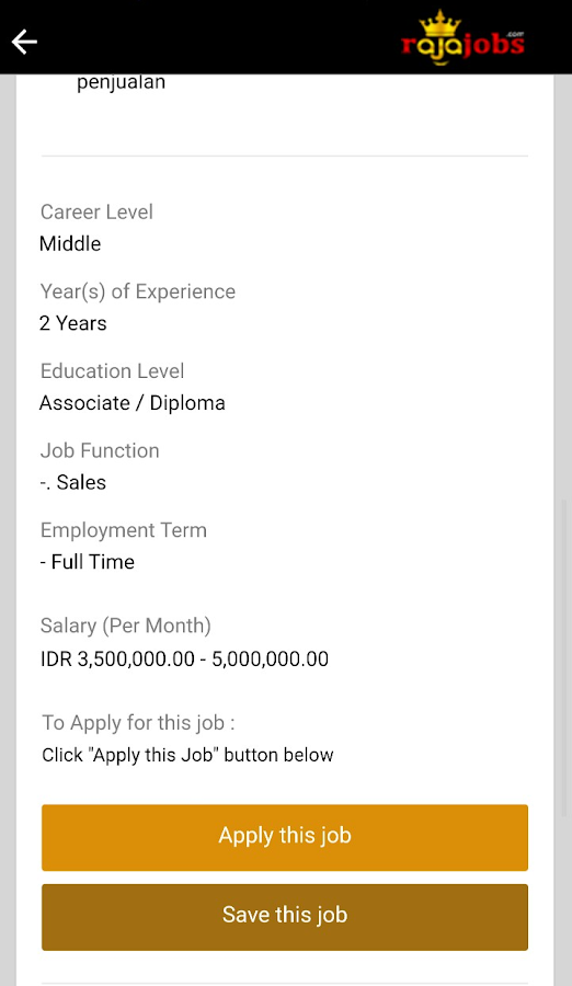Rajajobs- screenshot