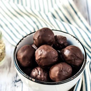 Chocolate Peanut Butter Hemp Power Balls.