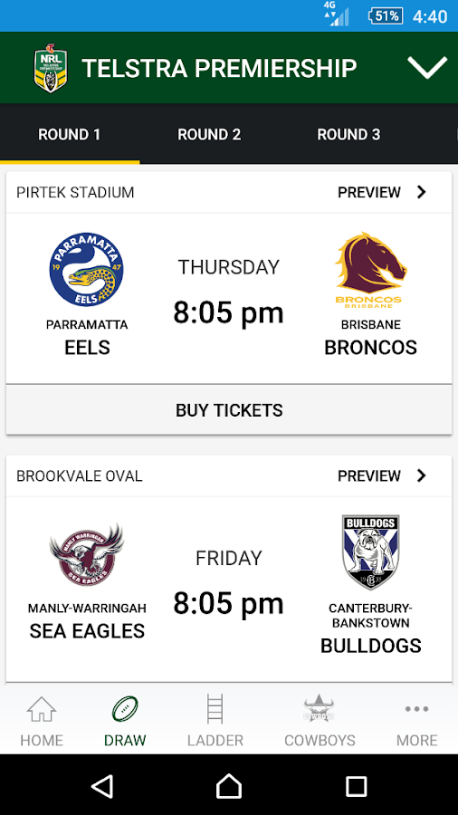 NRL Official App- screenshot