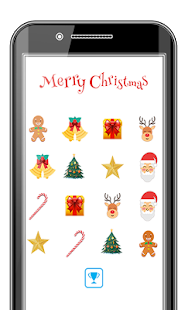 Merry Christmas Memory Game - náhled