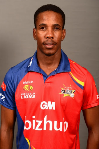 JOHANNESBURG, SOUTH AFRICA - DECEMBER 10: Thami Tsolekile of the Lions during the bizhub Highveld Lions photocall session at Bidvest Wanderers on December 10, 2015 in Johannesburg, South Africa. (Photo by Lee Warren/Gallo Images)