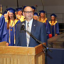 Photo: LHS Principal Frank Movalli addresses the crowd.
