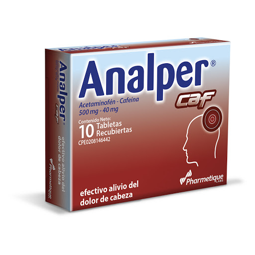 Acetaminofen + Cafeina Analper Caf 500/40mg