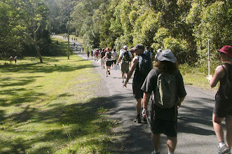 Photo: to the first control - Walkabout in a Water Wonderland - Wallarah 6 hour Metrogaine, 10 Feb 2013