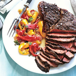 Herb-Rubbed Top Sirloin Steak with Peperonata.