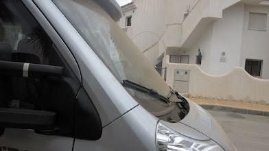 Photo: Även husbilen har ett lager sand, den ska snart få en hjälpande hand så den blir ren och fin igen