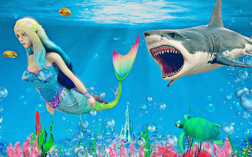 Mermaid Simulator 3D - Sea Animal Attack Games screenshots apkspray 5