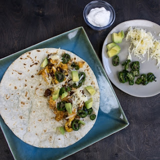 Breakfast Burritos with Roasted Jalapeno Peppers
