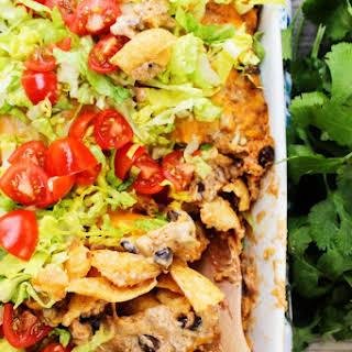Easy Beef Enchilada Bake.