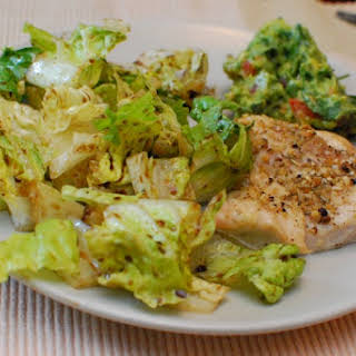 Quick And Easy Gluten-free Baked Chicken With Salad.