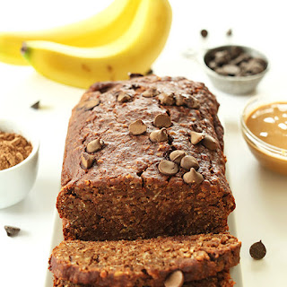 Chocolate Peanut Butter Banana Snack Bread (V+GF One Bowl)