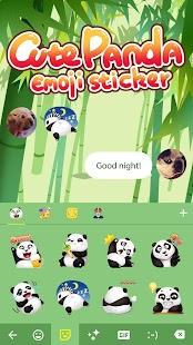 Cute Panda Sticker - náhled