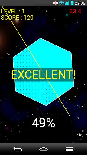 無料教育Appの脳トレ <半分に斬る!>|記事Game