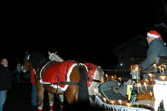 Photo: Auch der Wagen und die Pferde wurden verkleidet für den Anlass