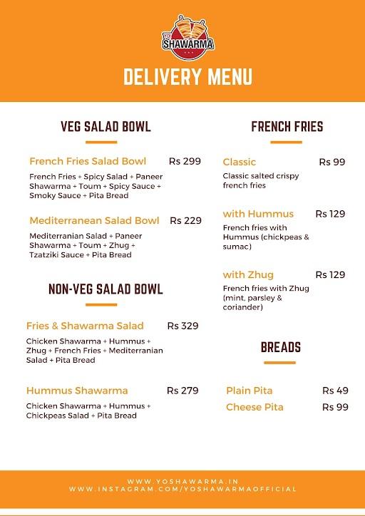 Yo Shawarma menu 3