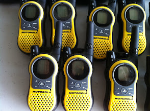 Photo: Radio walkie talkie yellow Motorola