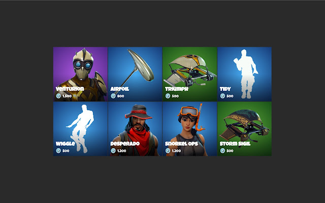 Fortnite - New tab - Current item shop