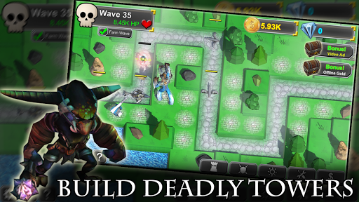 Idle Tower Defense: Fantasy TD Heroes and Monsters  screenshots 1