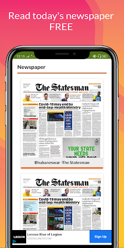 All Daily English Newspaper India in a app Epaper 16.0 screenshots 6