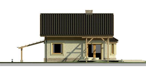 Dom przy Imbirowej 2 - Elewacja tylna