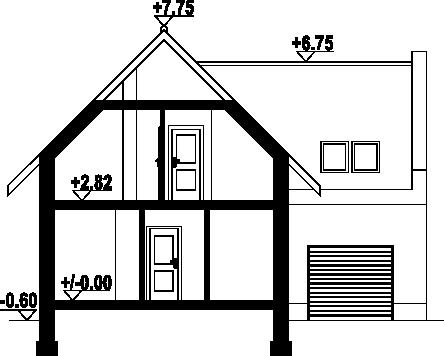 Gronowo x - Przekrój