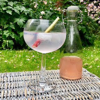 Rhubarb and Ginger Infused Gin.