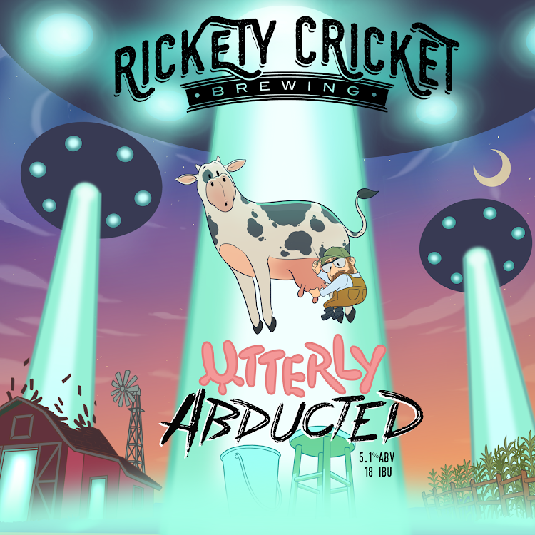 Logo of Rickety Cricket Brewing Utterly Abducted