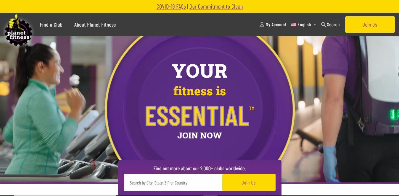 Planet Fitness website.