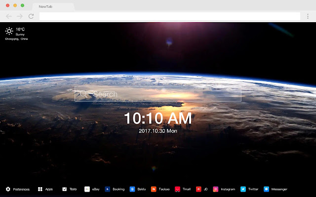 Earth Pop Photography HD New Tabs Theme
