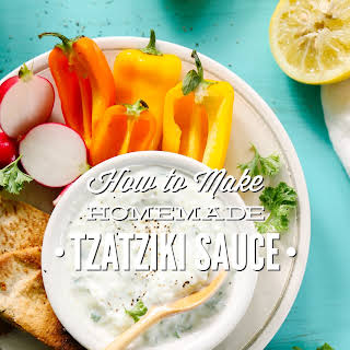 How to Make Homemade Tzatziki Sauce.